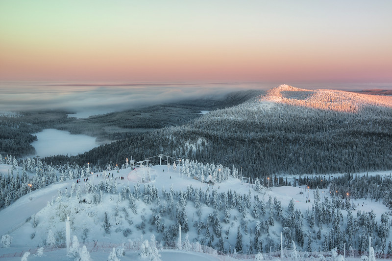 Sunrise, or Sunset... or both @ the same time. Lapland. Suomi.