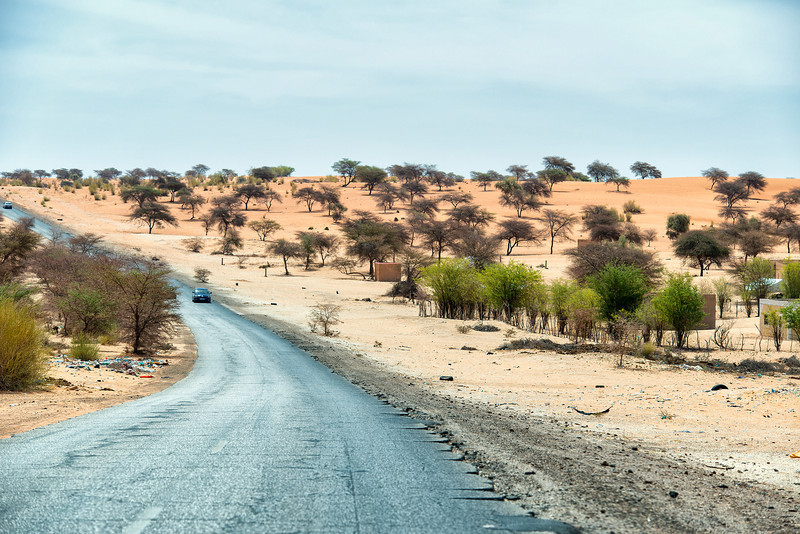 Driving in Mauritania
