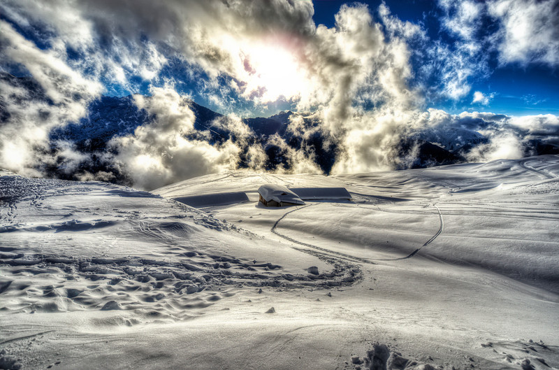 Above the clouds. Verbier. Suisse.
