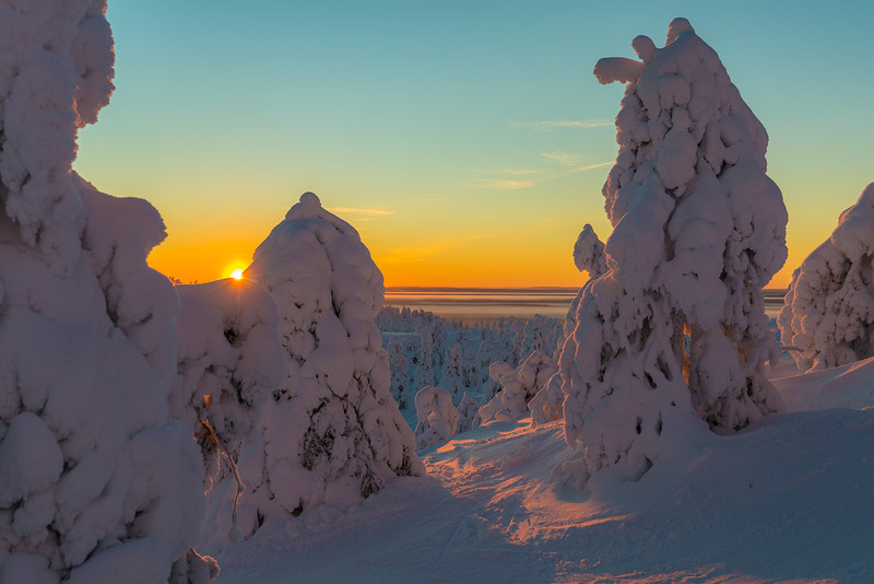 Polar night. Finland.