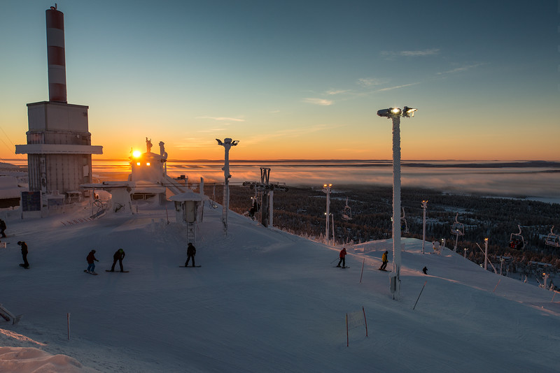 Sunrise in Ruka