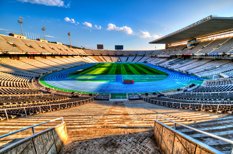 Anella Olímpica, Barcelona. Olympic Stadium.<br /> Was build in 1992 for summer Olympic games.
