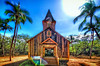 Ka Lanakila Church at Keomoku, Lana'i<br /> Pretend to be very Old - this Hawaiian Church completed restoration.