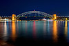 "Sydney bridge. The bridge is nicknamed ""The Coathanger"""