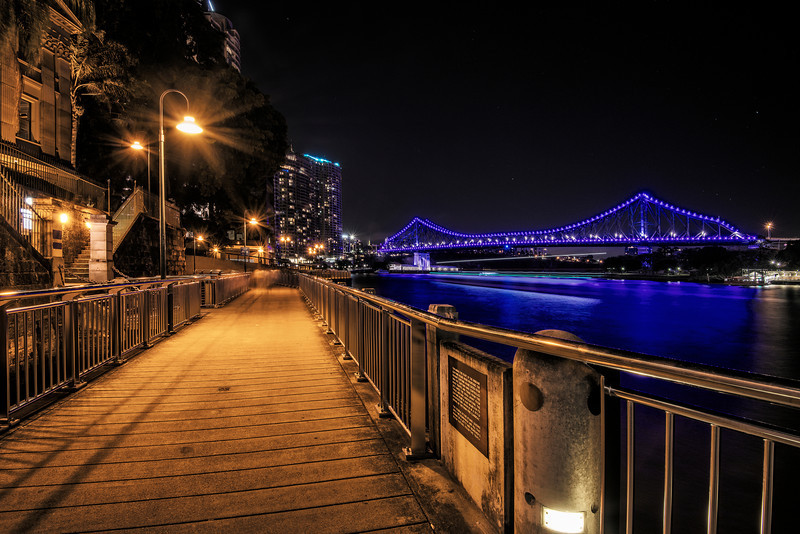 Night photo walk in Brisbane