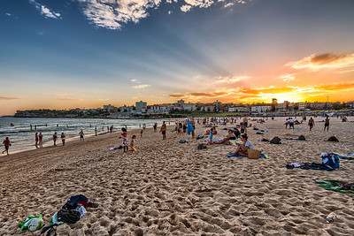 Sunset in Bondi Beach