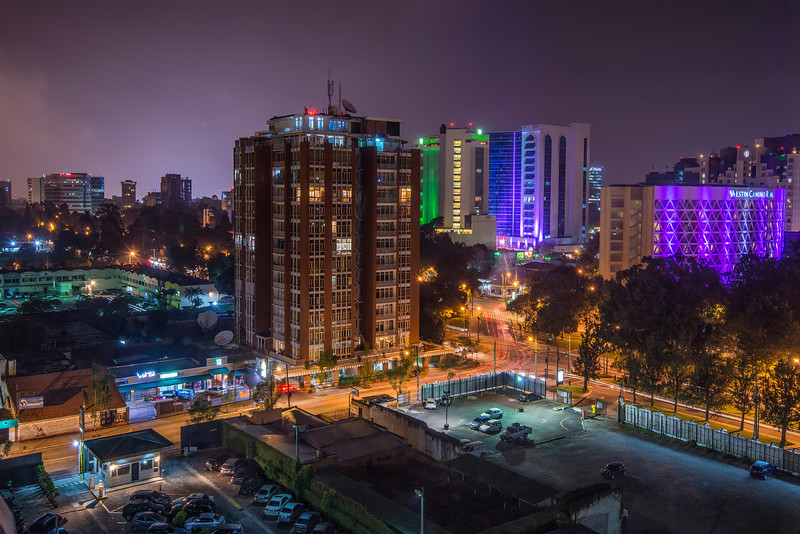 Night in Nr.6th most dangerous city in the World. Guatemala city.