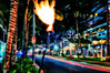 Honolulu Main st @ night