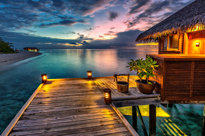 Will be back!  Night in Maldives.