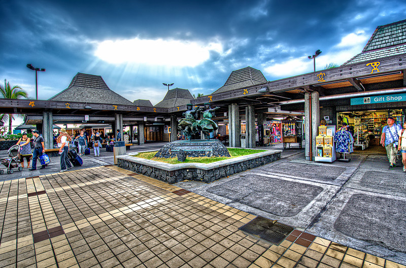 KOA airport. Maybe only one airport without roof on it...<br /> Hawaii