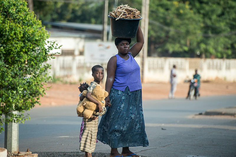 Strong, calm and gentle. Mama Africa. Benin.