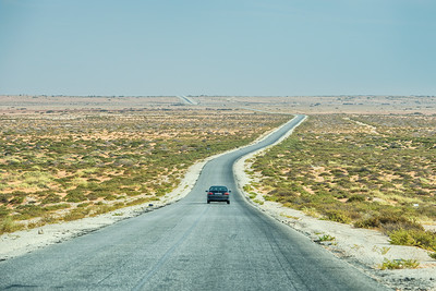 Traffic jam in Western Sahara