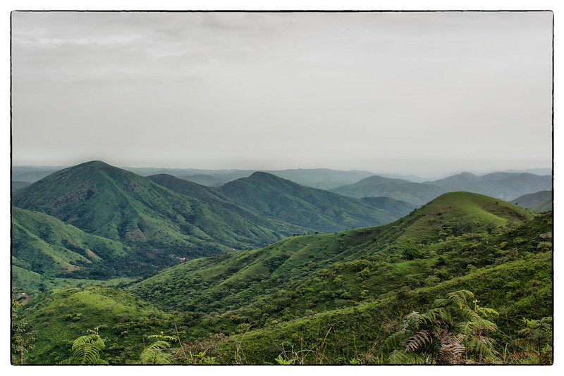 Crossing Mountains between Nigeria and Cameroon.