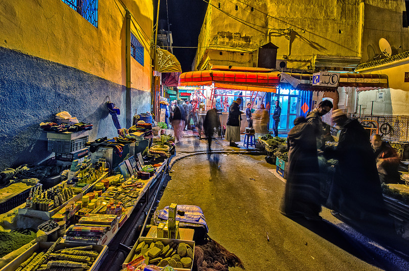 Local market in Morocco.