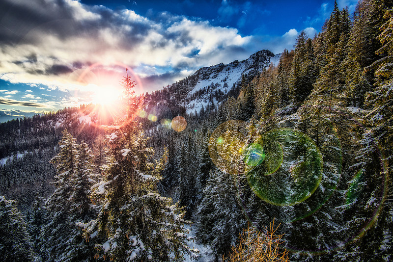 Sunset in Alps