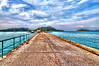 Long dock in Praslin island