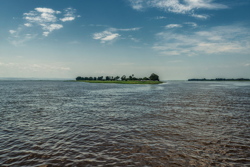 The Congo River. The world's deepest river with measured depths in excess of 220 m. It is the second largest river in the world.