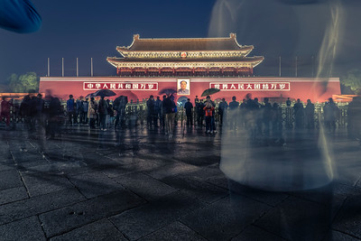 Night. Tiananmen Square. Beijing. Looking for Great Proletarian Cultural Revolution.