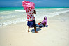 Muslim girls on the beach. Zanzibar
