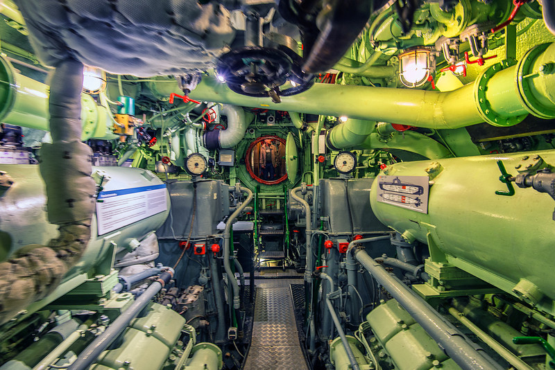 Inside German submarine