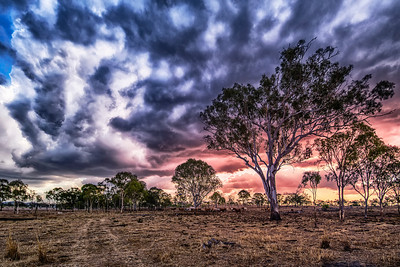 Boiling sky in Australia's wilds