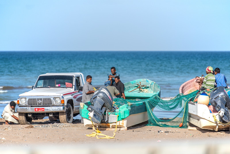 No rush in Oman. Fisherman's day.