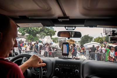 """Sometimes the true adventure doesn't begin until something goes wrong. Trying to get from Congo Brazzaville to other side of the Congo river - Kinshasa. Almost get arrested for taking pictures on """"border/ferry/dock/custom/port/sensitive area""""."""