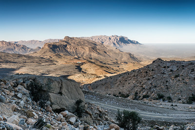 Trying to get to Jabal Shams - highest Omani mountains.