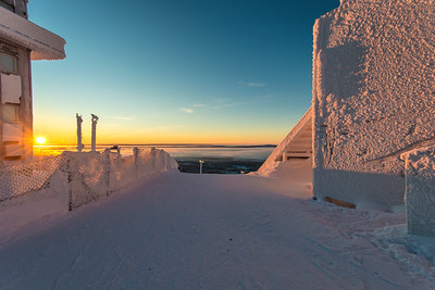 Sunset in Ruka, Finland.