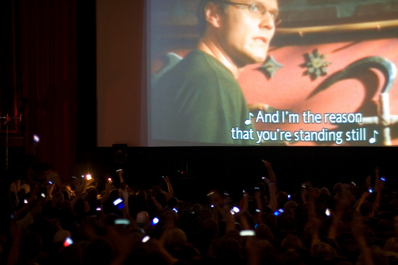 Cellphones/lighters in the air for the Giles power ballad!