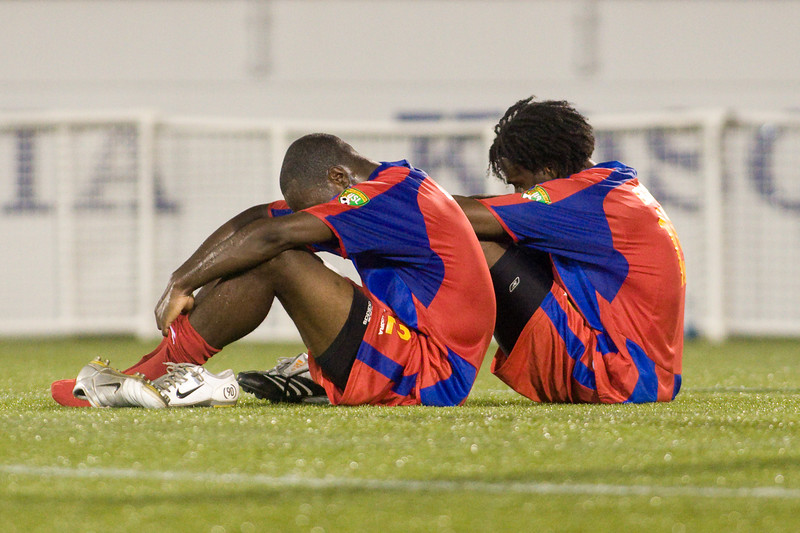 A gutted Alex Ughiove and Gary Brooks