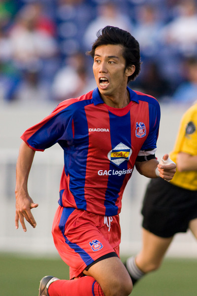 Shintaro Harada, taking over the captaincy after Ibrahim Kante's eary departure through injury.