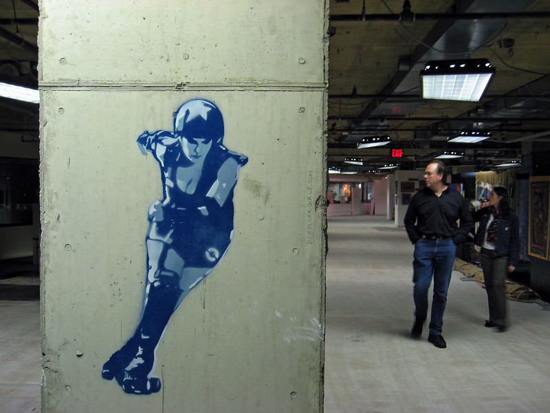 dc rollergirls graffiti at artomatic