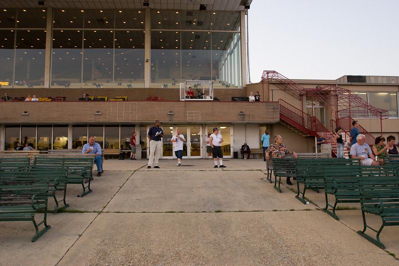 Patrons at Rosecroft Raceway
