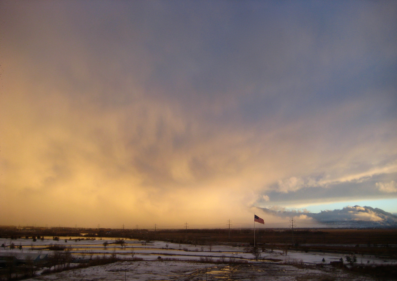Winter Storm at Sunset