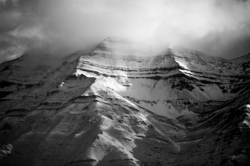 Alpine Sunlight and Storm