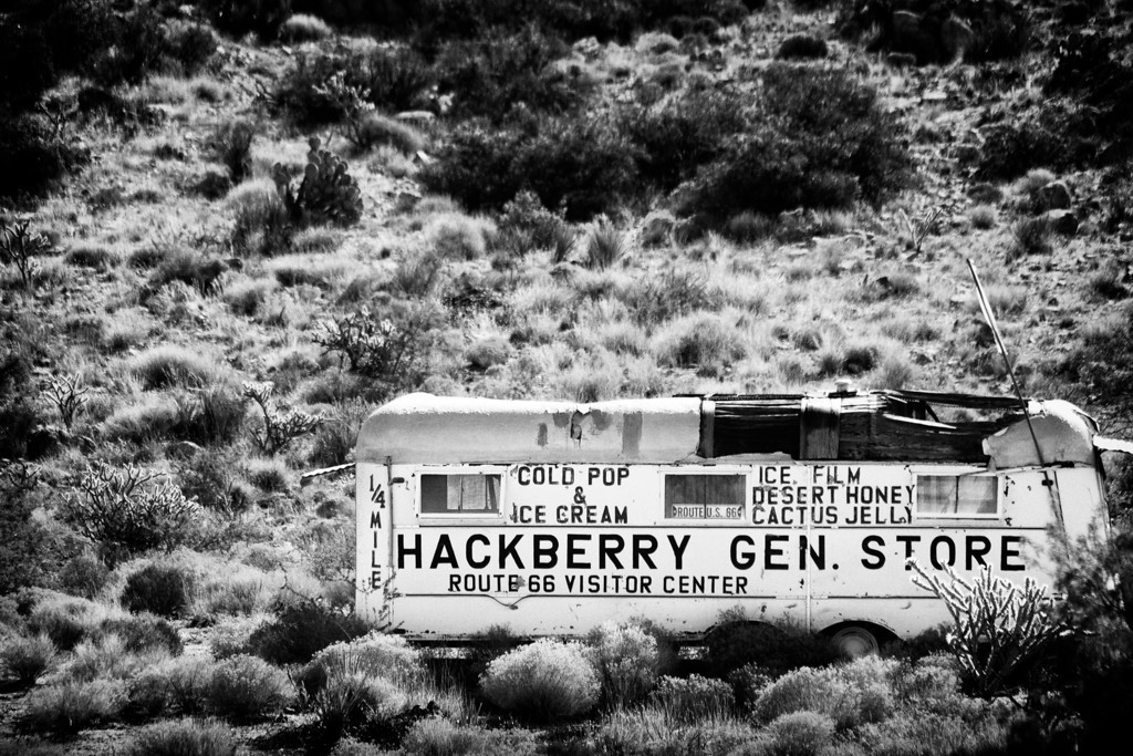 Hackberry General Store Ahead