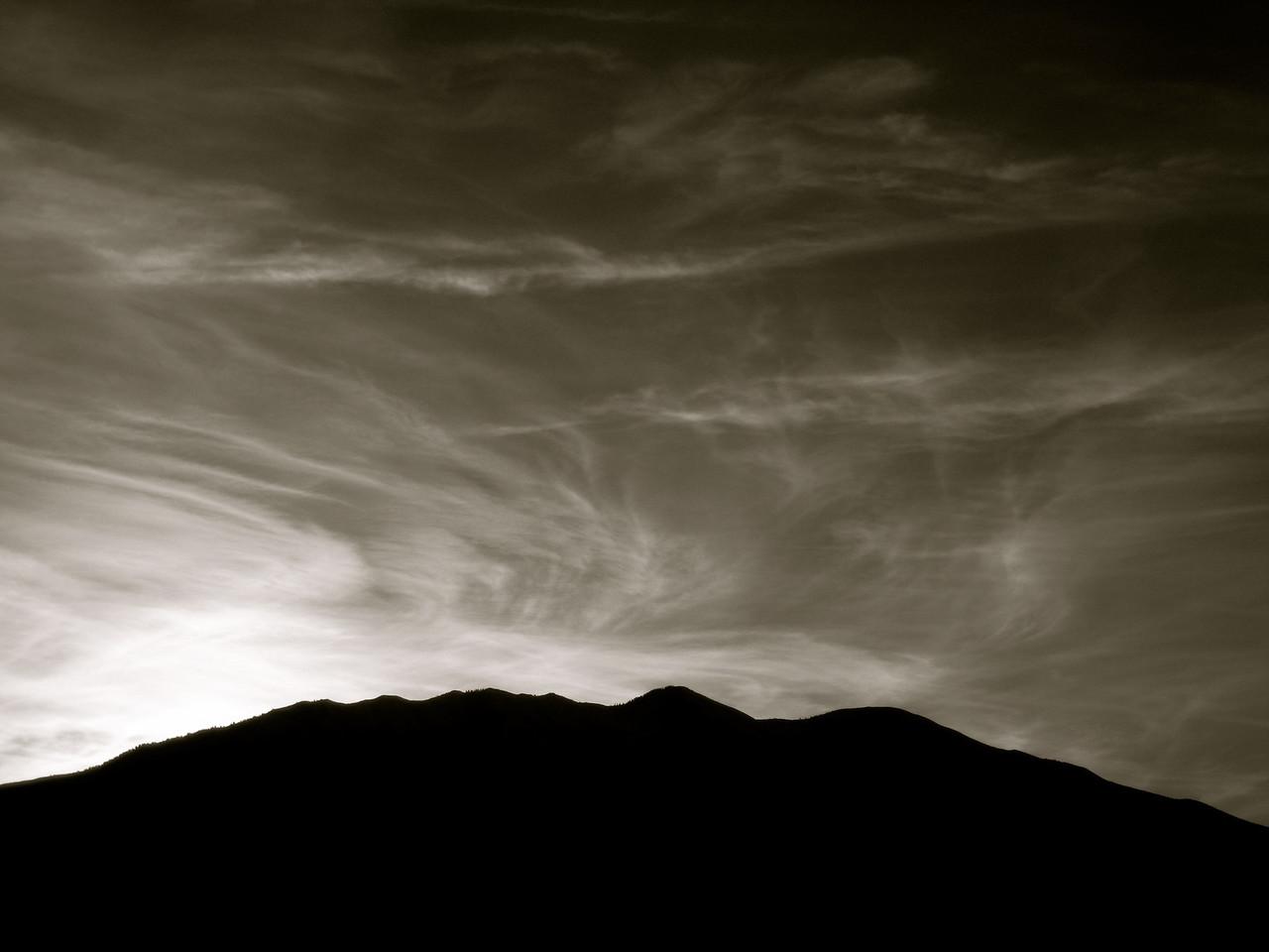 Sunrise, Cirrus, Silhouette