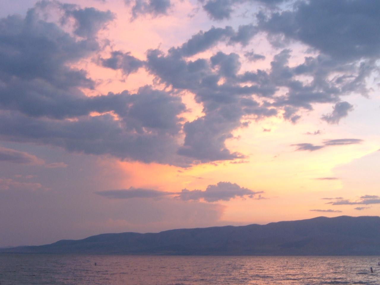 Pastel Sunset over Lake