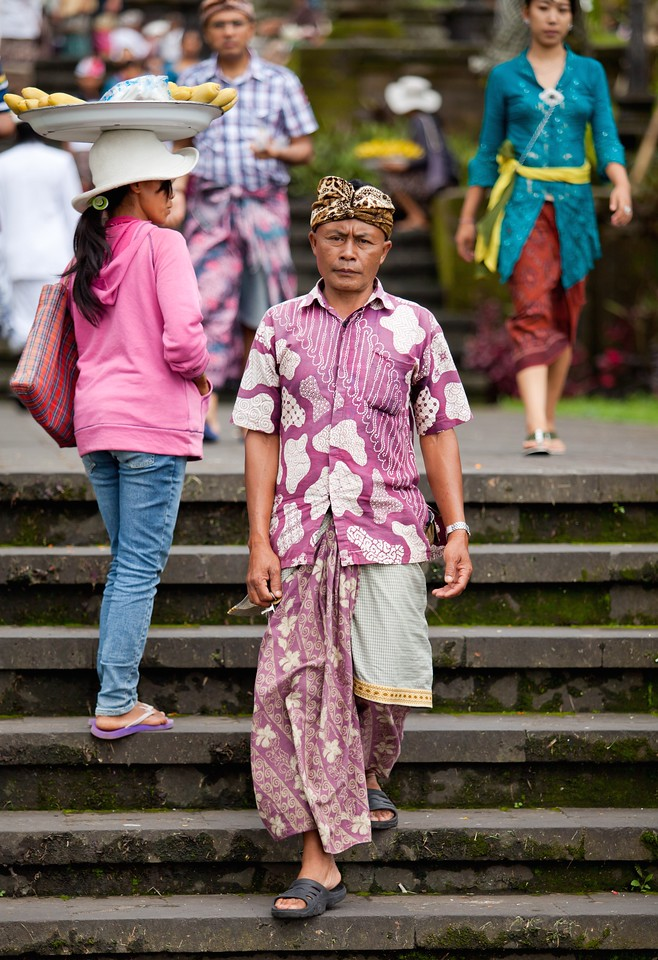 Traditional Balinese pilgrims