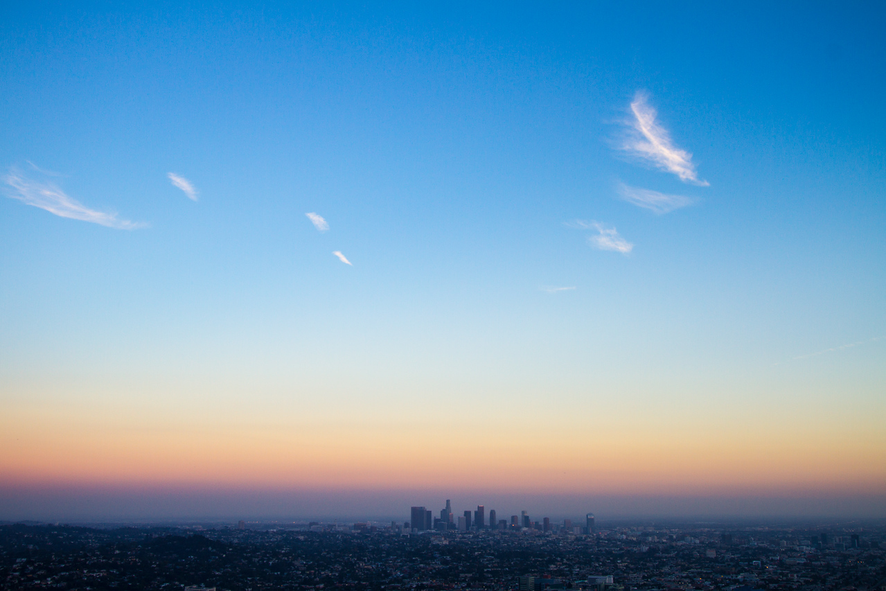 View of cityscape - USA - California - Los Angeles