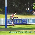 James' AFL season with Maroubra Saints in 2017