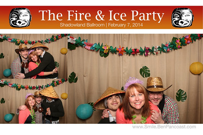 The Fire & Ice Party at Shadowland Ballroom in Saint Joseph Michigan. Photo booth by Ben Pancoast Photography. View and download all the pictures here: www.Smile.BenPancoast.com