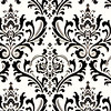 White / Black Damask