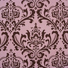 Pink / Brown Damask