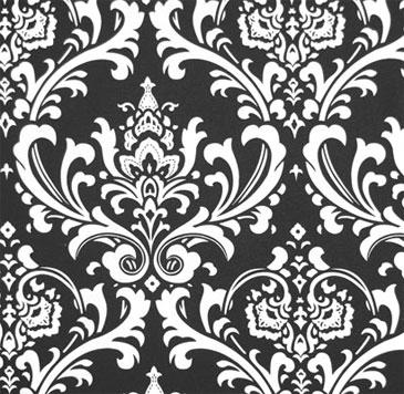 Black / White Damask