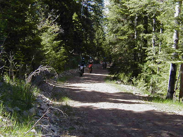 Fire road at the top of T250