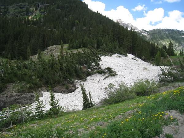 Snow over creek
