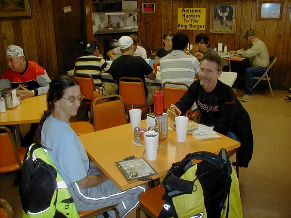 Loop 3, King Burger.  My riding companions for the day.  Lori and Chuck.