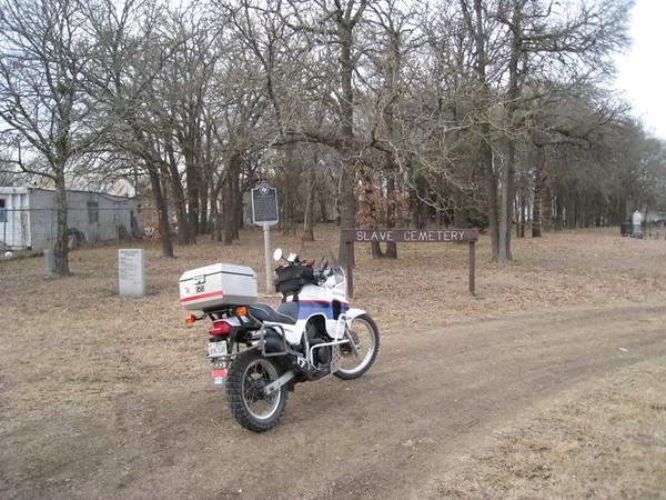 ADV sticker at RR Cemetery